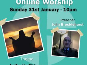 Sunday 31st January 2021 - Authority of Jesus