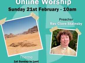 Sunday 21st February 2021 - 1st Sunday in Lent - Wilderness