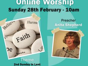 Sunday 28th February 2021 - 2nd Sunday in Lent - Faith