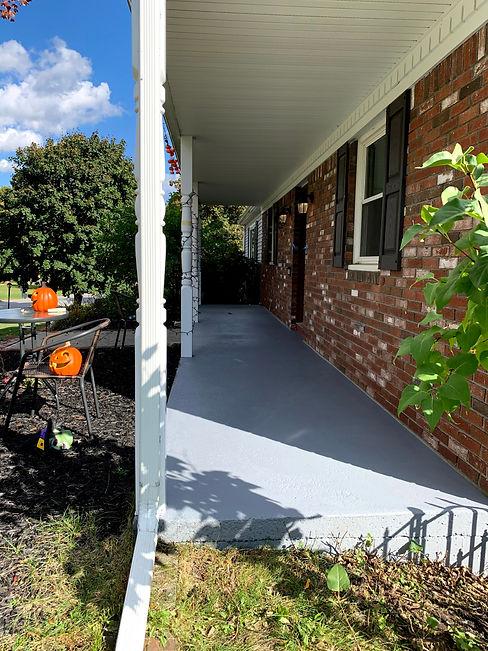 Painted Concrete Porch