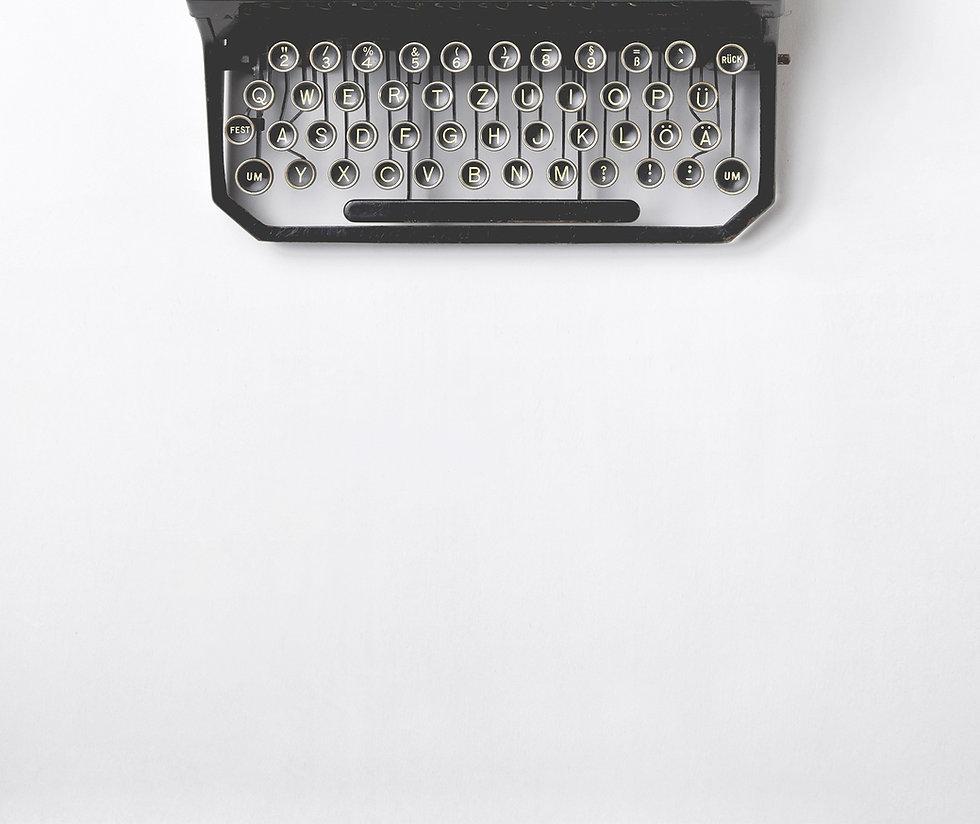 фоновое изображение с пишущей машинкой