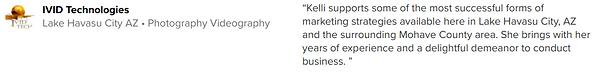 ivid technologies recommends kelliwallin