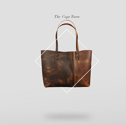 The Cape Town Vintage Leather Tote