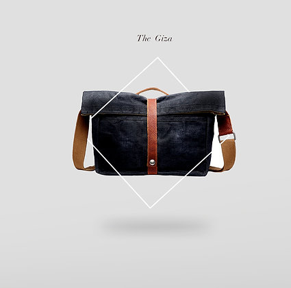 The Giza Rolled Waxed Canvas Shoulder Bag