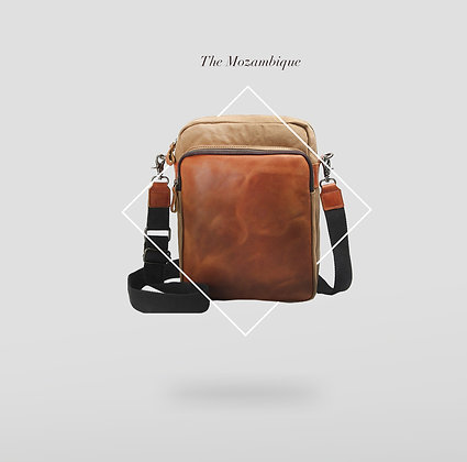 The Mozambique Sling Bag with leather front panel