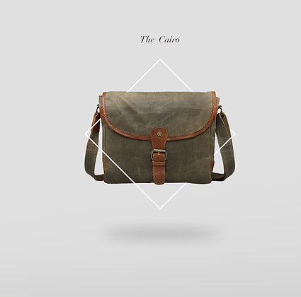 The Cairo Waxed Satchel Olive