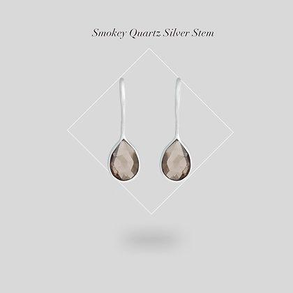 Smokey Quartz Silver Stem