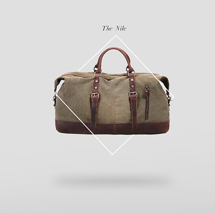 The Nile Canvas and Leather Travel bag