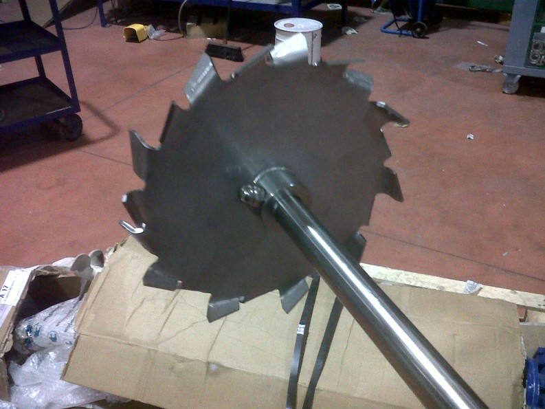 mixer impeller disk