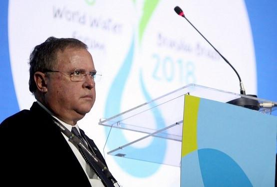 Blairo Maggi durante participação no 8º Fórum Mundial da Água (Foto: Antônio Araújo)