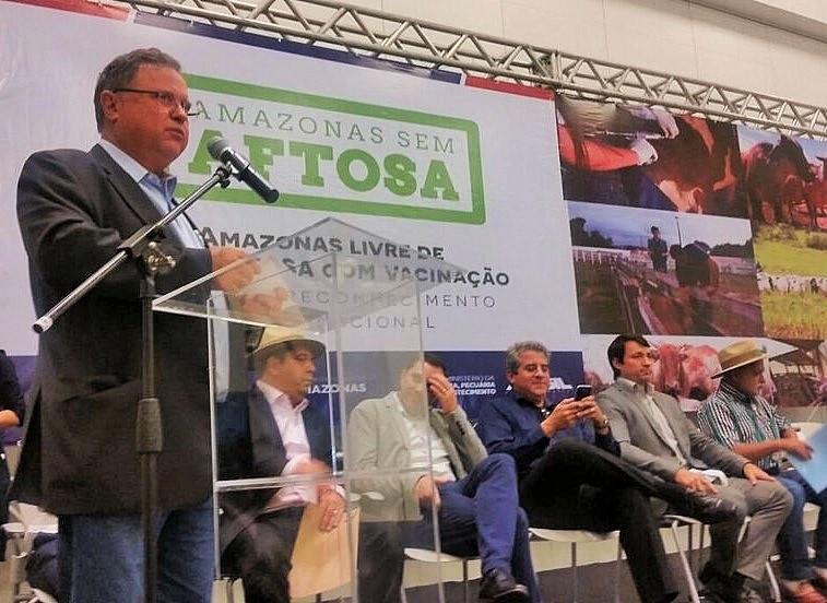 Ministro Blairo Maggi durante o Endesa 2017 (Mapa/Divulgação)