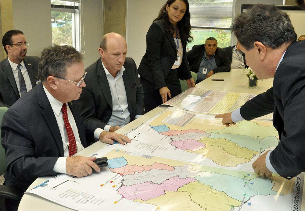 Apresentação do mapeamento das bacias macrologísticas brasileiras - (Foto: Graziella Galinari/Embrapa)