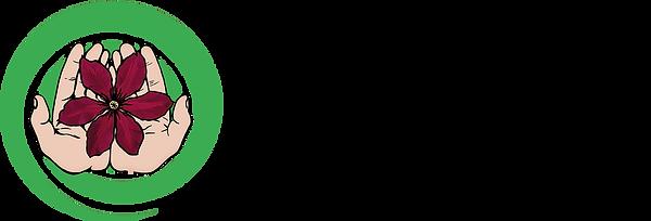 Logo mit schrift hwarz druckgrün transpa