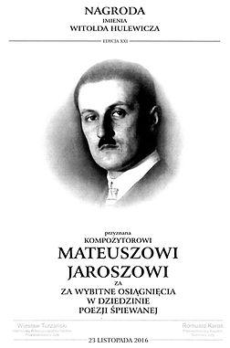 Mateusz Jarosz nagroda Hulewicza