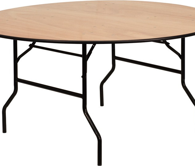 "Round Banquet Tables: Can be in 60"", 66"", 72"", 48"" or 36"" diameter."