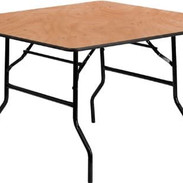 """Round Banquet Tables: Can be 60"""" and 30"""" square."""