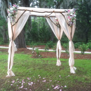 Natural Twig Arbor: Double: $650.00