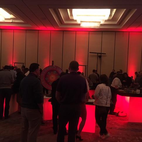 Red Illuminated Tables