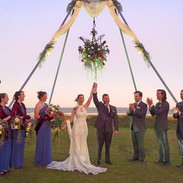 A-Frame Ceremony Arbor (Floral not included): $750.00