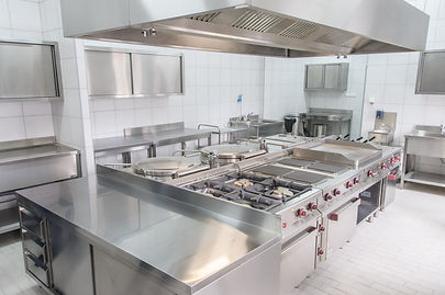 Professional kitchen interior, clean and