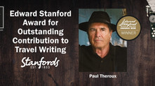 Paul Theroux honoured for Outstanding Contribution to Travel Writing at the prestigious Edward Stanf