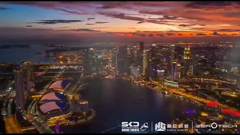 Drone light show Singapore New Year