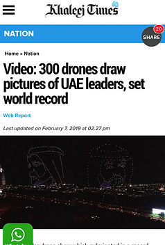 New drone show world record by SKD International Drone Evens