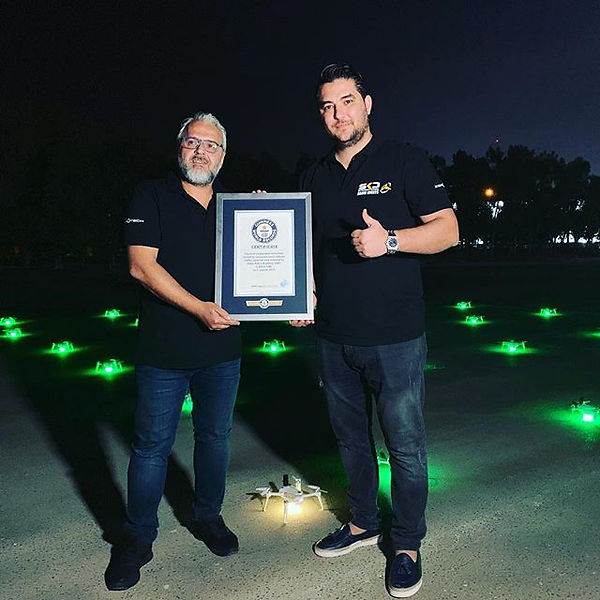 SKD drone receives first Guinness World Record for drone show