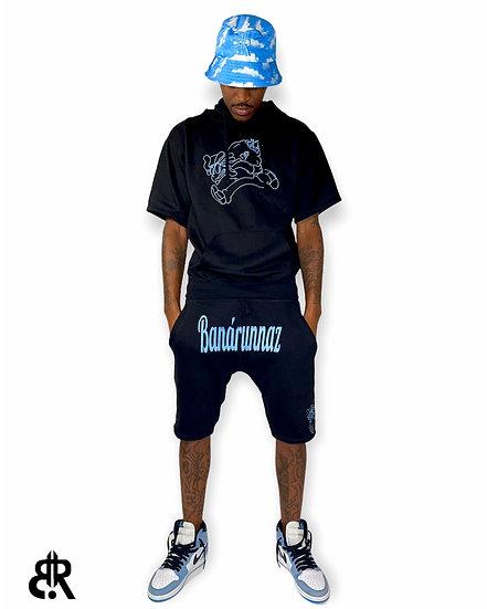 Running Man University Blue Short Set