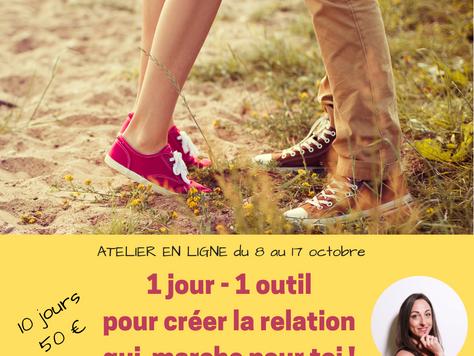 1 jour/ 1 outil pour créer la relation qui marche pour toi !  Atelier en ligne avec Angélique Bernar