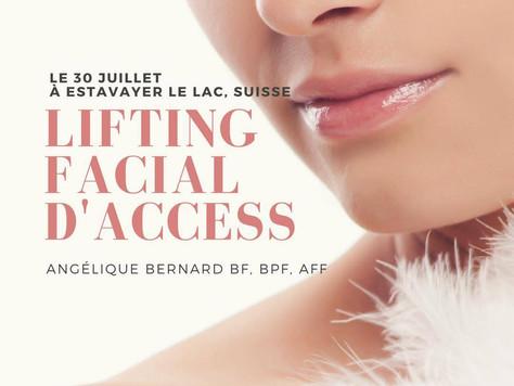 Classe de Lifting Facial d'Access® à Estavayer le Lac, Suisse facilitée par Angélique Bernard