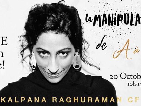 💃2 classes à ne pas manquer avec Kalpana Raghuraman!! A Paris le 20 e 21 octobre 2018! Si je ne les