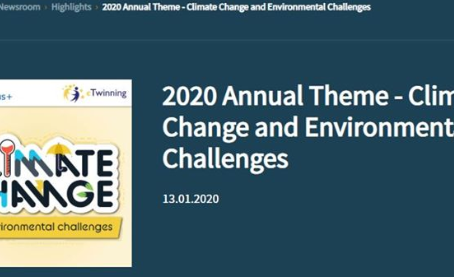 2020 Annual Theme - Climate Change and Environmental Challenges