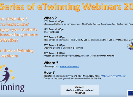 3rd Series of eTwinning Webinars June 2020