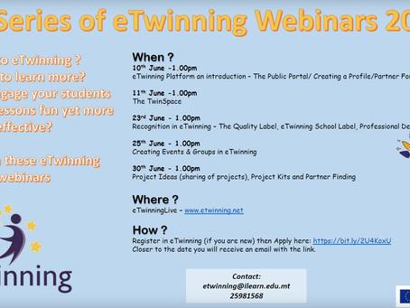 3rd Series of eTwinning Webinars June 2020
