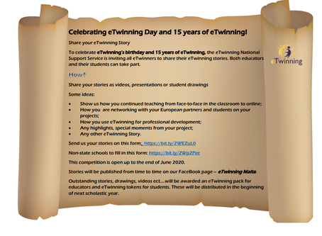 Celebrating eTwinning's birthday and 15 years of eTwinning