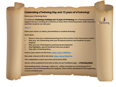 Celebrating eTwinning's birthday and 15 years of eTwinning