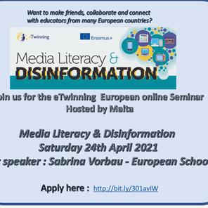 eTwinning Online Seminar 2021 – Media Literacy and Disinformation