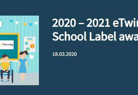 2020 – 2021 eTwinning School Label awards18.03.2020