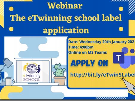 Webinar: The eTwinning school label application