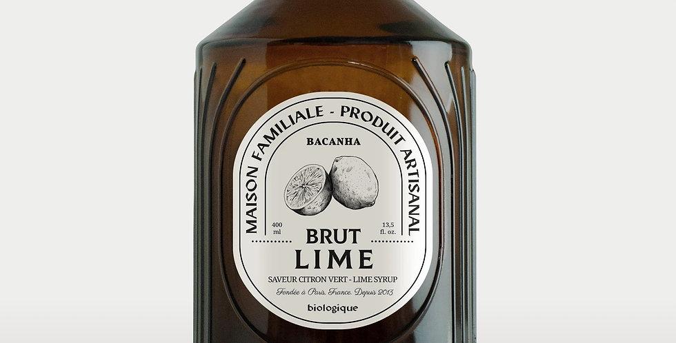 Sirop de Lime Brut - Bio - 400 ml - Bacanha