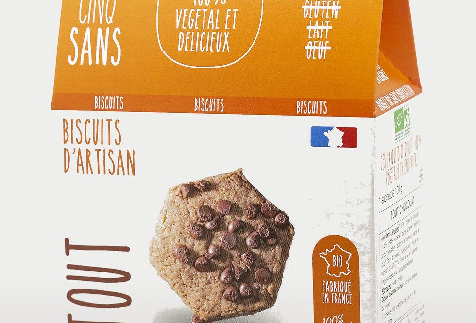 Biscuit Tout Chocolat - Cinq Sans - 100Gr