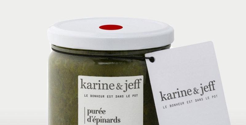 Purée d'épinards - Karine & Jeff  - 350Gr