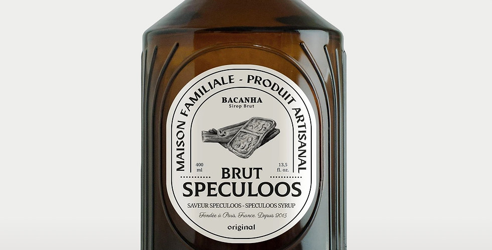 Sirop de Speculoos Brut - Bio - 400 ml - Bacanha