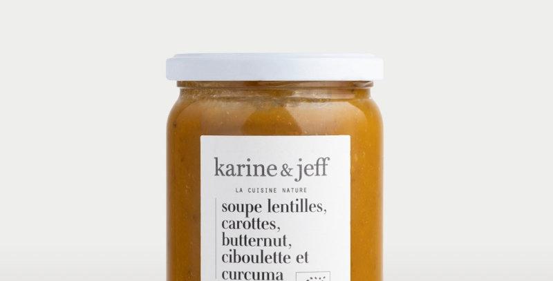 Soupe lentilles, carottes  - Karine & Jeff