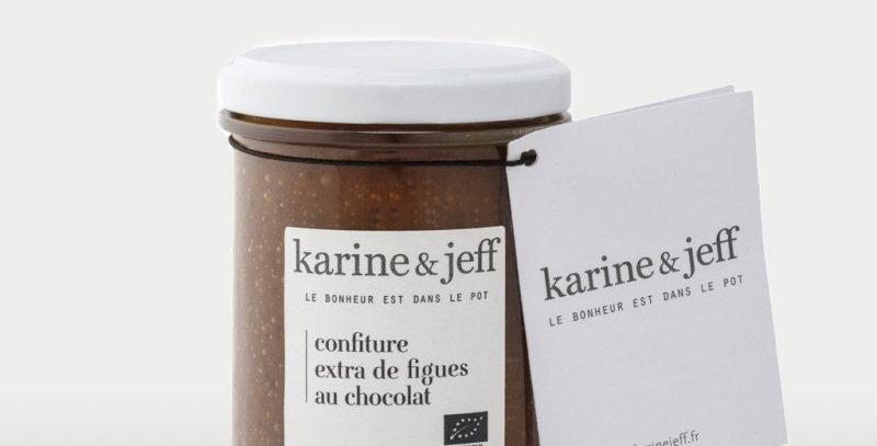 Confiture Figues au chocolat - Karine & Jeff  - 250Gr