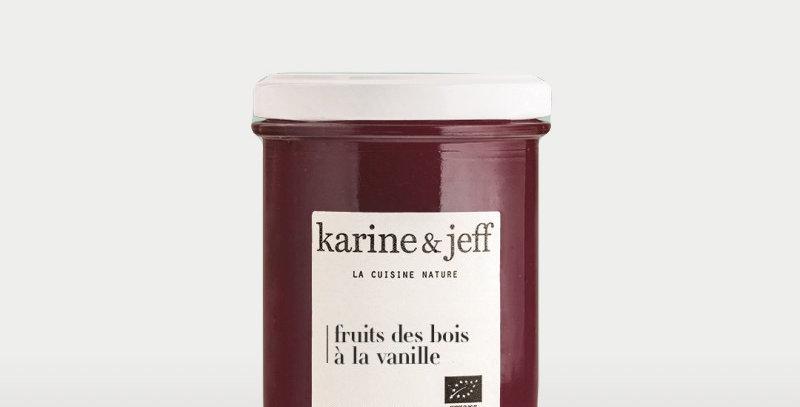 Confiture Fruits des bois à la vanille - Karine & Jeff  - 245Gr