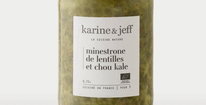 Minestrone de lentilles et chou kale   - Karine & Jeff  - 680Gr