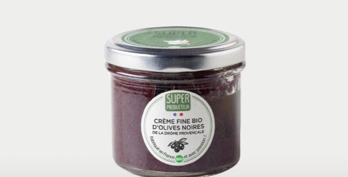 Crème Fine Bio d'Olives noires de la Drôme Provençale - 90g