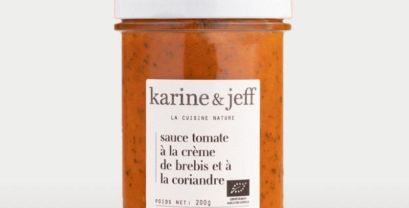 Sauce tomate à la crème de brebis et à la coriandre - Karine & Jeff  - 200Gr